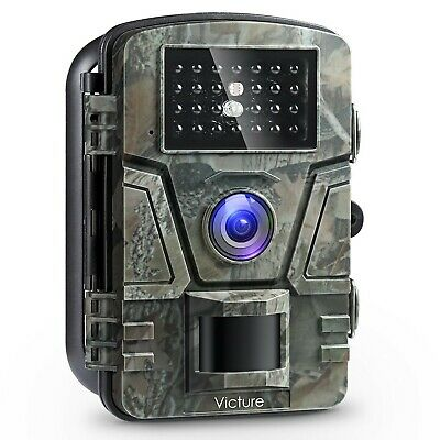 Victure Wildlife Camera 1080P 12MP Trail Game Camera Motion Activated Night V...