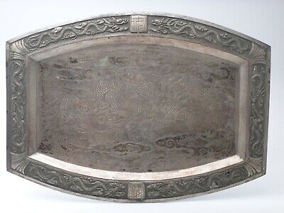 Antique chinese dish silver plated 19th Century