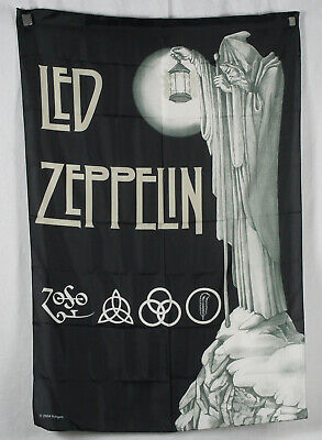 Authentic LED ZEPPELIN Stairway To Heaven Silk-Like Fabric Poster Flag NEW