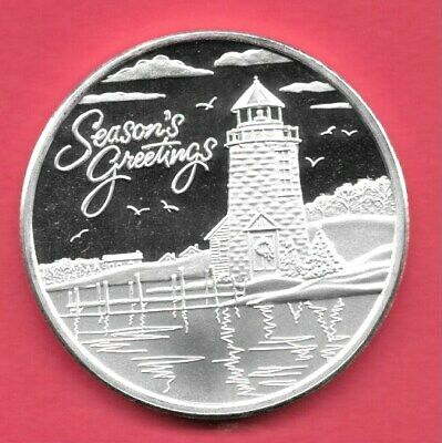 2019 Christmas By The Sea .999 Silver Round