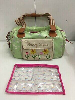 Baby Changing Nappy Bag - Pink Lining Yummy Mummy Blooming Gorgeous, with Mat
