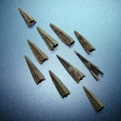 Scythian Vikings arrowheads 7 - 2 nd century BC bronze. RARE. ORIGINAL 6(y)
