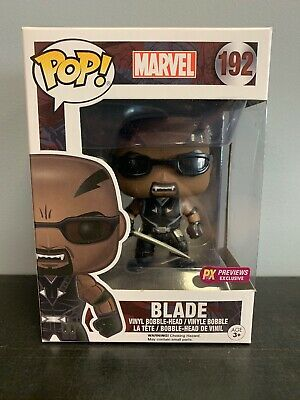 Funko Pop Marvel #192 Blade PX Previews Exclusive in protector