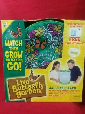 Insect Lore Live Butterfly Garden Science Educational Kit Includes Voucher NEW