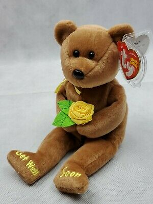 Ty Beanie Baby ~ BANDAGE the Get Well Soon Bear ~ MINT with MINT TAGS ~ RETIRED