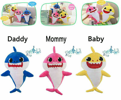 New Baby Shark Plush Singing Plush Toys Music Doll English Song Toy Gift US