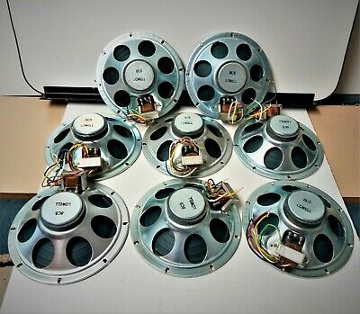 """Lot of 8 Vintage Lowell LWB8H-T 20 8"""" Speakers 8 Ohms New Old Stock"""