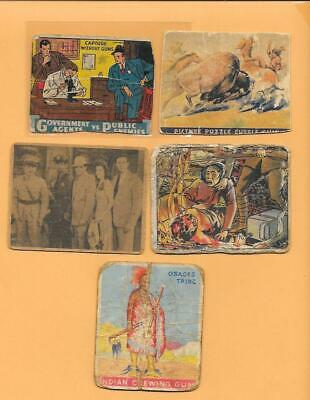 1930s - 1940s VINTAGE NON-SPORTS TRADING CARD LOT - 9 CARDS - VARIOUS THEMES