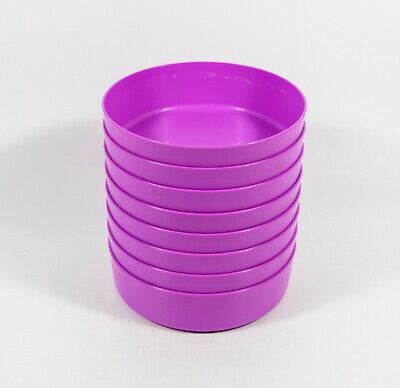 Lot of 8 Tupperware Purple 1551 Storage Containers Lunchbox Cereal Wonder Bowls