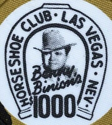 Binion's Horseshoe Club Las Vegas Casino $1000 Chip 1980 The Chip Rack #V4648