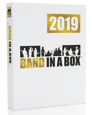 New PG Music Band in a Box Pro 2019 Windows PC Composition Software Boxed