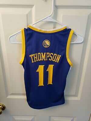 brand new b8a75 10d93 #11 KLAY THOMPSON Golden State Warriors Home Jersey. Youth Size Small
