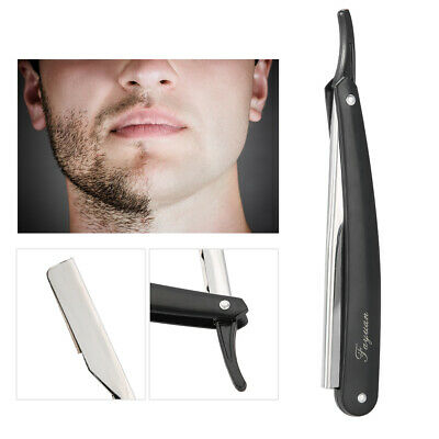 Barber Cut Throat Straight Salon Folding Shaving Razor Shave Rasoirs Black