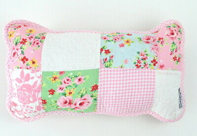 Decorative Pink Patchwork Cushion