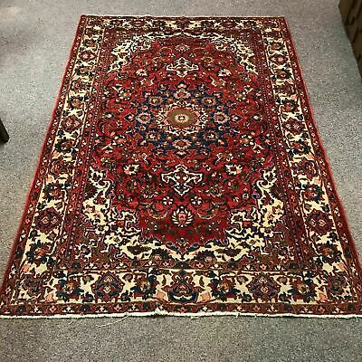 Fine Antique Hand Made Wool Persian Hamadan Carpet 7' by 4'10""