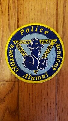 CONNECTICUT STATE POLICE Training Academy Patch Ct - $6 79