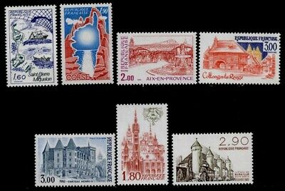 France 1808-13A MNH castle of Henry IV, Lille, Chateau Ripaille, Ship, Map