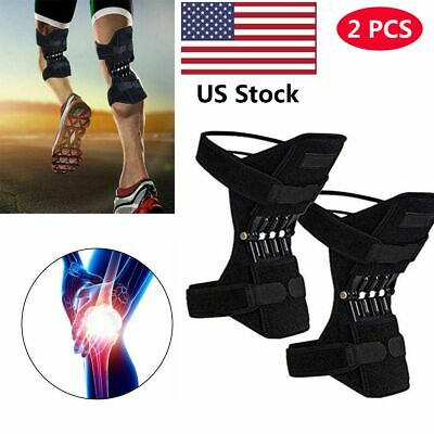 2 PCS Power Knee Stabilizer Pads Powerful Rebound Spring Force Support Knee Pad