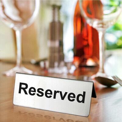 Double Sided Restaurant Stainless Steel Lightweight Reserved Triangle Table Sign