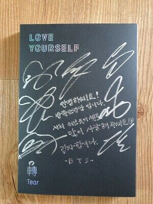 BTS Promo Love Yourself Tear Album Autographed Hand Signed Type B Message