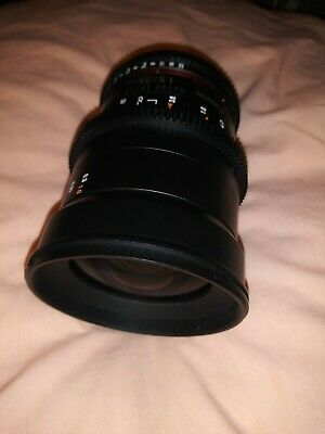 Rokinon 35mm T1.5 AS UMC II Lens for Canon  Red Dot Mount USED DSLR CAMERA