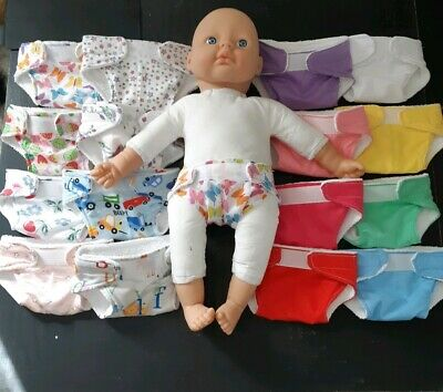 Homemade Extra Large 50cm Baby Doll Nappy - 16 Pattern Choices