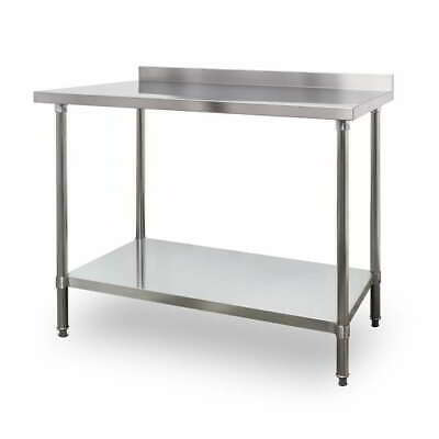 1200mm x 700mm New Stainless Steel Kitchen Work Bench Prep Table With Splashback