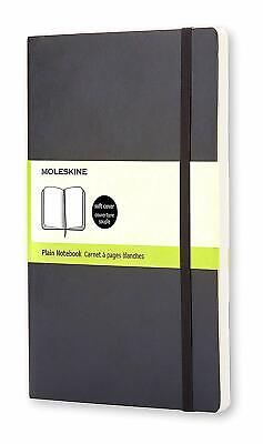"Moleskine Notebook Soft Cover Large (5"" x 8.25"") Blank New Original Package 192p"