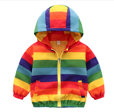 Toddler Baby Boy Girl Outdoor Jacket Hooded Zipper Outerwear Casual Fashion Coat