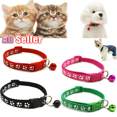 Dog Kitten Puppy Collar Adjustable Harness Pet Cat Neck Strap with Bell