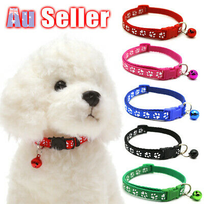 Dog Pet Collar Neck Strap with Bell Cat Puppy Adjustable Harness Kitten