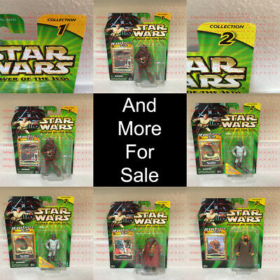 *OBO* Star Wars Power of the Jedi POTFJ 1 & 2 Jedi Force File Hasbro 1996-2010