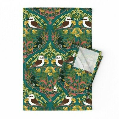Royal National Park Sydney Linen Cotton Tea Towels by Roostery Set of 2