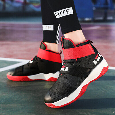 Mens Fashion High-Top Basketball Shoes Youth Sports Running Sneakers Gym Shoes
