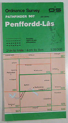 1988 old OS Ordnance Survey 1:25000 Pathfinder map 907 Penffordd-Las SN 89/99