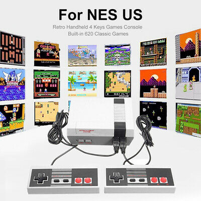 Mini Retro Handheld 4 Keys Games Console Built-in 620 Classic Games for NES US