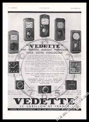 1934  Vedette Westminster Clock Original French Advert Print Ad - U