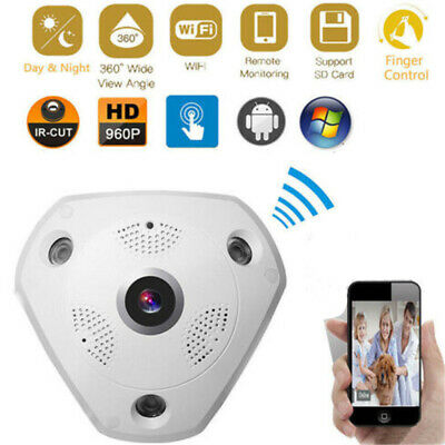 360 Degree WiFi IP Camera Panoramic Security CCTV HD 960P VR 3D Ceiling Mount