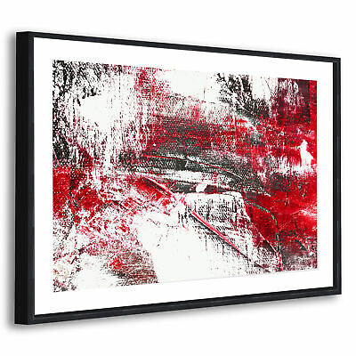 AB573 Black White Grey Bird Modern Abstract Canvas Wall Art Large Picture Prints