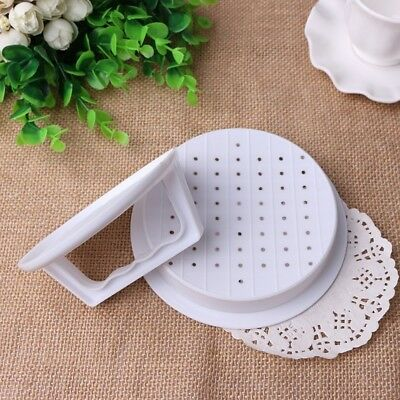 Hot Hamburger Mold Plastic Burger Press Meat Beef Grill Cooking Maker Best Chic