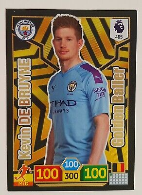 Panini Adrenalyn Xl Premier League 2019/20 Kevin De Bruyne Golden Baller Card