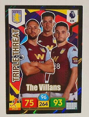 Panini Adrenalyn Xl Premier League 2019/20 Aston Villa Triple Threat Card