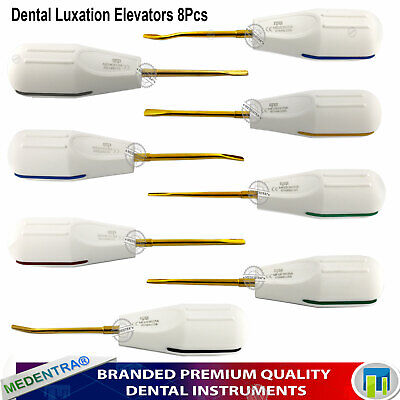 Luxating Elevators Instruments for Extraction Tooth Luxation PDL Roots Blue Tips