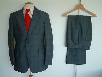 """1970's SUIT..FLARED..40"""" x 34""""..70's DISCO..GLAMTASTIC 70's..YORKERS..MADE IN UK"""