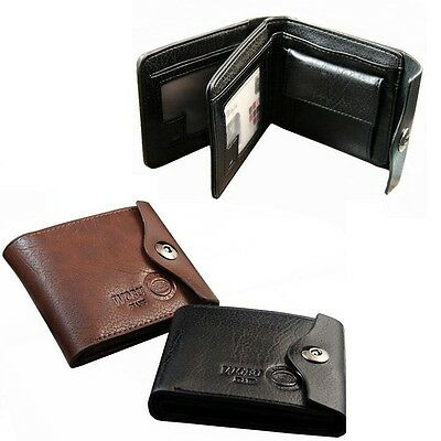 Retro Mens Wallet Leather Bifold ID Cards Holder Coin Pocket Slim Purse Bag New