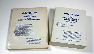 1995 MAXIM Data Books - 2 Books
