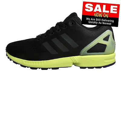 Adidas Originals ZX Flux Mens Classic Casual Retro Trainers Black