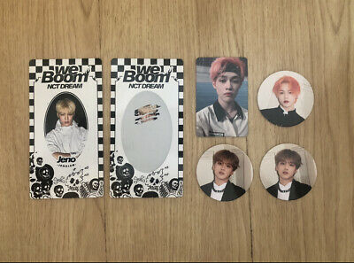 NCT DREAM WE BOOM PHOTOCARD, SCRATcH  AND CIRCLE CARD JAEMIN HAECHAN CHENLE JENO