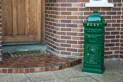 """Green Victorian Style """"Camden Deluxe"""" Free Standing Post Box Or Pillar Box"""