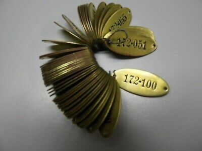 50 Vintage Brass Tags - Locker Tags - Sequential, Industrial, Steampunk - Unused